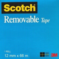 Tape Magic Tape 811 12x66m Magic Removable Tape 0251827 - sold roll