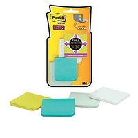 Post-It Note 3M F220 8SSFM Full Adhesive Assorted 50 x 50mm Pack 8
