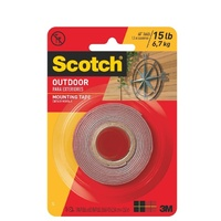 Mounting Tape Foam 4011 Scotch Exterior 25.4x1.5 3m 0417152 - roll
