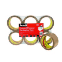 Packaging Tape 3M Scotch 310 48mm x 50M Brown Pack 6 box sealing