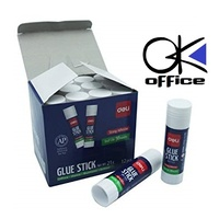 Glue Stick 21G PVP 7122 box 12 Office School or Home bulk pack of 21 grams Adhesive Deli