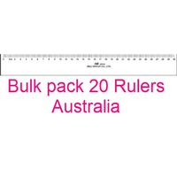 Ruler 300mm Plastic Clear office school - box 20