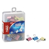Foldback Clips 19mm Coloured Hangsell pack 50 -