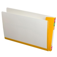 White Fullvue Shelf Lateral File with Orange Tab and Spine, Foolscap - box 100