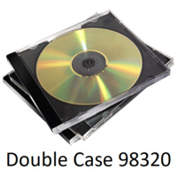 CD Jewel Case Double cd Black Fellowes 98320 - pack 10