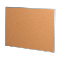 Corkboard 450x600mm Aluminium Vista - each