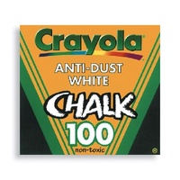 Crayola Chalk Anti Dust White Box 100 ** there is absolutely no guarantee against breakage