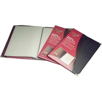 Waterville Display Book Executive 40 page Burgundy W94A4 - each