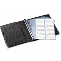 Business Card Binder Kit 300 capacity Rolodex 67696 - each