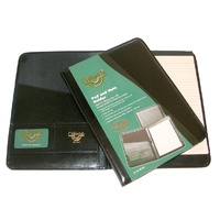 Note Holder A4 Black Bonded Leather WB13A4 Waterville - each