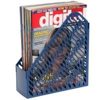 Magazine Rack Marbig Plastic Blue 864001 - pack 2