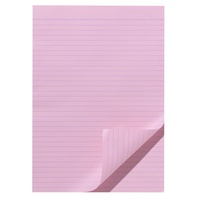 Office Pad A4 Ruled Pink 100 Leaf Olympic 141301/22360 Pack 10