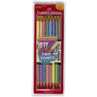 Pencil 2 tone by Faber - pack 8