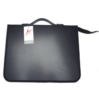 620A4 Zippered A4 PP Artists Portfolio with ring metals and handle. Black Colby - each