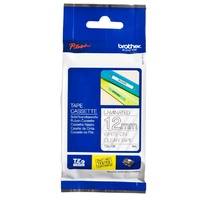 Brother TZe135 12mm x 8m White on Clear TZ-135 P-Touch - TZ135 tapes