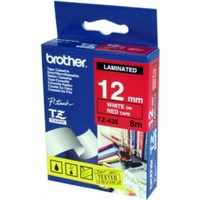 Brother TZe435 12mm X 8m White on Red TZ-435 P-Touch - each