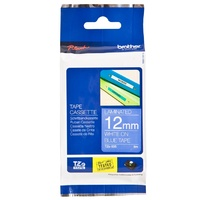 Brother TZe535 12mm x 8m White on Blue TZ-535 P-Touch - each