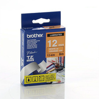 Brother TZe635 12mm X 8m White on Orange TZ-635 P-Touch - each