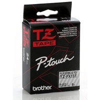 Brother TZ 24mm X 8m Black on Clear TZ-FX151 P-Touch - each