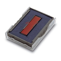 Trodat replacement ink pad 4750 RED BLUE Printy T647502C - each