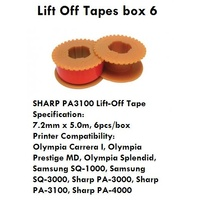 Lift Off Tape SHARP PA 3100 - group 624 Fullmark 356240 - box 6