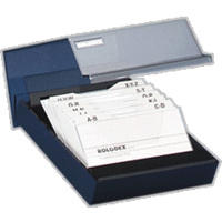 Covered Business Card Files 200 capacity Rolodex 67208 - each