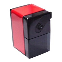 Pencil Sharpener DeskTop clamp 1 hole Red CP-80 CARL - each