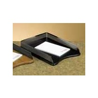 Letter Tray Eldon Expressions Wood Punched Metal SR23565 Black Gun Metal