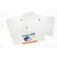 Document Wallet A3 With Button 34344 Beautone Pack 12 files folders