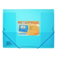 Document Wallet A4 Cool Frost Blue 34982 Beautone expands to hold 200 sheets