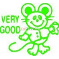 Stamp Pre-inked 11402 Mouse (Very Good) Green 5114024 Xstamper - each