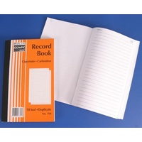 Book Plain Ruled Carbon Book 8x5 Duplicate 704 Carbonless 07353 - each