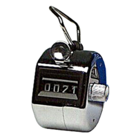 Tally Counter Hand Held 4 Digit KW241 heavy duty steel winder