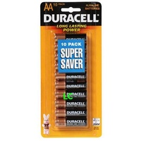 Batteries AA 10 Duracell Coppertop - pack 10