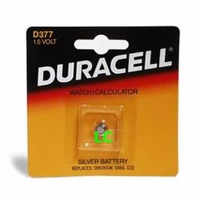 Batteries Duracell D377 Watch Batteries - each