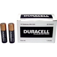Batteries AA 24 Duracell Coppertop box 24 bulk