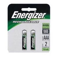 Batteries - AAA - 2 energizer Rechargeable - Card 2