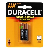 Batteries - AAA - 2 Duracell Coppertop - pack 2