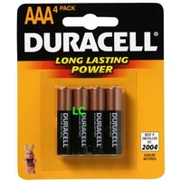 Batteries - AAA - 4 Duracell Coppertop 30002483 - pack 4