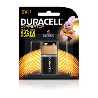 Batteries - 9 Volt Duracell Coppertop - pack 1