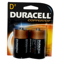 Batteries D 2 Duracell size Coppertop - pack 2