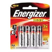 Batteries AA - 4 Energizer E91BP4 - pack 4