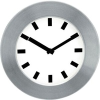 Clock 25cm Wall Aluminium Jastek 0268240 - each