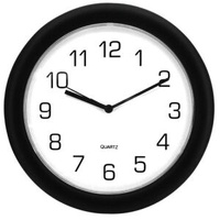 Clock 30cm Wall Black Jastek - each