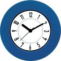 Clock 16cm Wall Blue Jastek - each