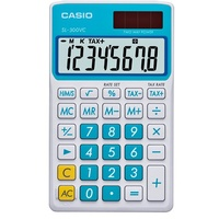Calculator  8 digit Pocket Battery & Solar Casio SL300 - not sure if the colour is blue