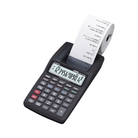 Calculator 12 digit Casio HR-8TM-BK Prints Black Printing  hand held