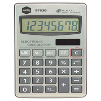 Calculator  8 digit Hand Held Dual Power Marbig 97630 - Solar and Battery