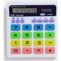 Calculator  8 digit DeskTop Battery & Solar Marbig 97660 Solar and battery powered. Light powered with battery back-up