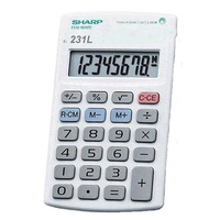 Calculator  8 digit Sharp EL231LB Pocket Battery